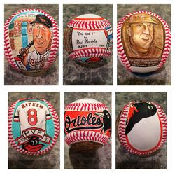 Cal Ripken Baltimore Orioles hand painted baseball