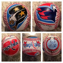 Washington Capitals Hand Painted Baseball