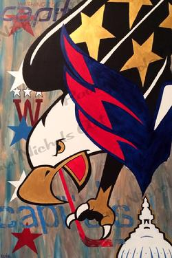 Washington Capitals, Acrylic, Painting, Hockey
