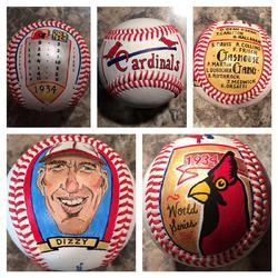 St Louis Cardinals Hand Painted Baseball