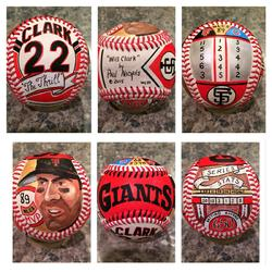 Will Clark '89 NLCS Hand Painted Baseball, SF Giants
