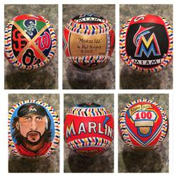 Miami Marlins Hand Painted Baseball