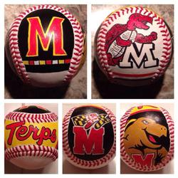 Maryland hand painted baseball