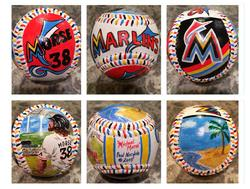 Michael Morse Miami Marlins Hand Painted Baseball