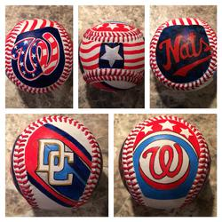 Washington Nationals Hand Painted Baseball