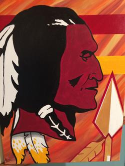 Washington Redskins acrylic painting