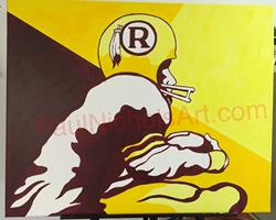 Washington Redskins painting acrylic
