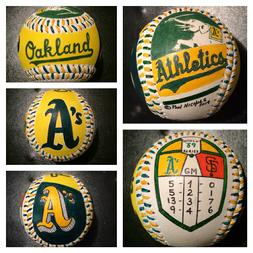 Oakland A's 1989 Hand Painted Baseball