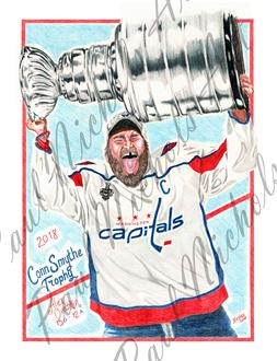 Ovechkin, Capitals, NHL, Stanley Cup, Artwork