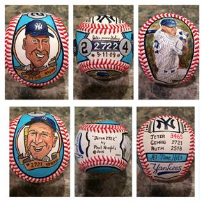 New York Yankees hand painted baseball