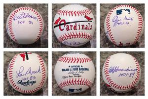 Bob Gibson, Lou Brock, Ozzie Smith, Red Schoendienst