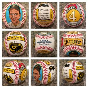 Ralph Kiner, Hall of Fame, Painted Baseball, Pittsburgh Pirates